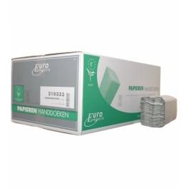 Papieren ECO Handdoeken C-vouw 25x33cm , Nr. 210333 / 1-laags naturel eco , doos à 3600 stuks