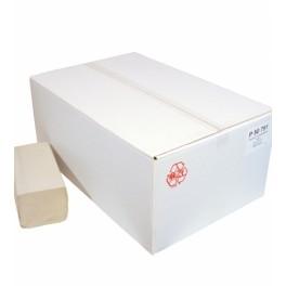 Papieren Handdoeken Z-vouw 23x25cm , Nr. 50791 / 1-laags naturel eco , doos à 5000 stuks