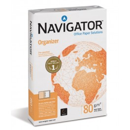 Kopieerpapier A4 80 grams Navigator Organizer 4-gaats / Doos (5 pak à 500 vel)